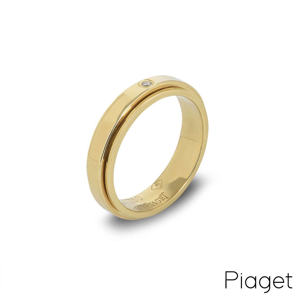 Piaget 18k Yellow Gold Diamond Set Possession Ring B&P G34PJ855